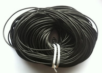 Wholesale Leather Cord Length - 100 M ROLL Length Black Round Real Leather Jewelry Cord 3mm
