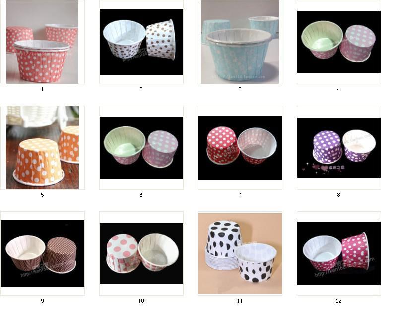 MIX RENKLER yuvarlak Kağıt muffin durumlarda, kek bardak, cupcake durumlarda, fırında bardak, kek sarmalayıcıları