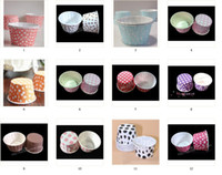 Wholesale muffin wrappers for sale - Group buy MULTI patterns Paper muffin cases cake cups cupcake cases bake cup cupcake wrappers