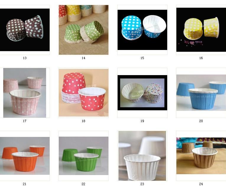 MIX COLORS 라운드 종이 머핀 케이스, 케익 컵, 컵 케익 케이스, 베이크 컵, 컵 케이크 래퍼