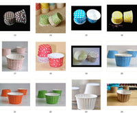 ingrosso colori della torta della tazza-MIX COLORS, astucci rotondi in carta, torte, cupcake, tazza da forno, involucri per cupcake