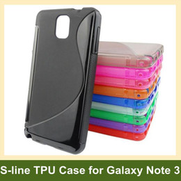 Wholesale Note S Tpu - Wholesale S Style S-line Soft TPU Cover Case for Samsung Galaxy Note 3 10pcs lot Free Shipping