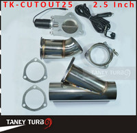 Wholesale Electric Exhaust Dumps - Tansky - 2.5 INCH EXHAUST CUTOUT ELECTRIC DUMP Y-PIPE CATBACK CAT BACK TURBO BYPASS STEEL TK-CUTOUT25 High Quality