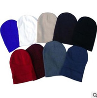 Wholesale Cheap Knitted Beanies - Cheap Hot Selling Plain Blank Beanies Winter Knitted Beanie Baseball Hip Hop Hats Caps Nice Colors Mixed Order Free Shipping