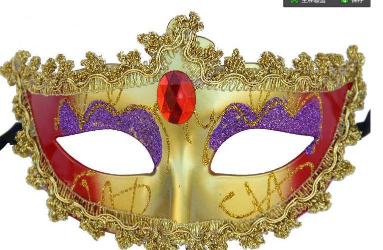 Partihandel - Promotion Selling Party Mask Ny Bröllopsgåva Guld Fashion Venetian Masquerade Party Supply Hallween Prop