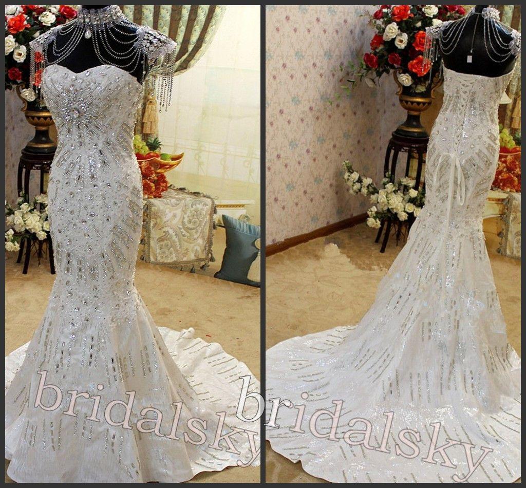 Wedding Gowns With Swarovski Crystals: 2015 Best Selling With Necklace Swarovski Crystals
