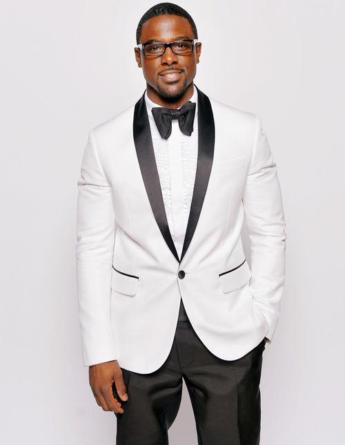 White Tuxedo Jacket Black Pants Black Shawl Lapel, Bespoke Groom ...