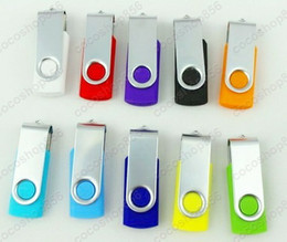 Wholesale 64gb Flash Drive Promotion - 500pcs lot Promotion pendrive 64GB popular USB Flash HOgiftT Drive rotational style memory stick YSEY with DHL Fedex