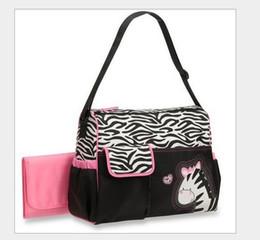 Wholesale Green Baby Bags - animal diaper bag mummy bag nappy bag Zebra or giraffe babyboom multifunctional fashion infanticipate bag mother baby bag