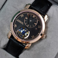 Wholesale Men Luxury Automatic Watch Replicas - gift Rose gold case mens Leather belt replicas High quality Automatic master Fashion men watch luxury sports stainless steel Men's Watches