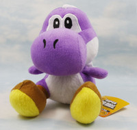 "Wholesale Purple Yoshi Plush - super mario bros purple yoshi 7"" soft plush toy doll retail"