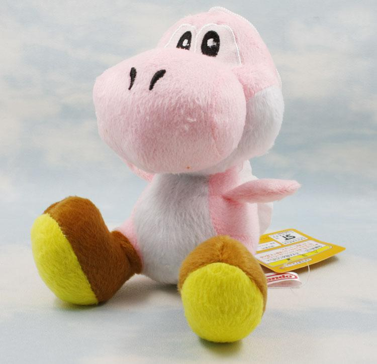 "Super Mario Bros New 7"" 7inch yoshi Plush Doll Figure Toy yoshi green black red"