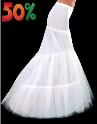 18a080f22fc2 White Ivory 1 Hoop Tulle Mermaid Womens Petticoat Slip For Wedding Bridal  Dress Stretchy Lady Underskirt Crinoline Full Formal Party Evening Half  Petticoat ...