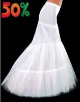 ingrosso sottoveste bianche-Bianco Avorio 1 Cerchio Tulle Mermaid Womens Petticoat Slip Per abito da sposa da sposa Elastico Sottogonna Crinolina Full Formal Party Serata