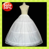 Wholesale Discount Ball Gowns Sale - Most Discount Hot sale 50% off 3 HOOP Ball Gown BONE FULL CRINOLINE PETTICOAT WEDDING SKIRT SLIP NEW FS0003