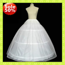 Wholesale Wedding Dress Underskirt Tulle - White Ivory 3 Hoops Tulle Womens Petticoats Slip For Wedding Bridal Dress Stretchy Lady Underskirt Crinoline Full Formal Party Evening