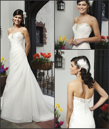 Wholesale Inexpensive Sequin Dresses - Custom Made Beaded Sequins Sweetheart Neckline Sleeveless White Wedding Dresses Sweep Train Lace-Ups Bridal Gowns High Quality Inexpensive