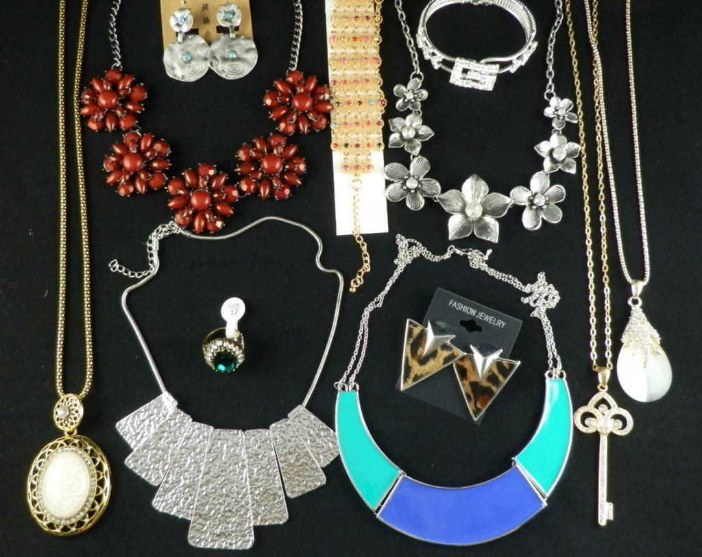 Europen Style Fashion Vintage Punk Jewelry Pendants & Necklaces Mix Chunky Statement chain Long Necklace Sold By Weight 500gST2