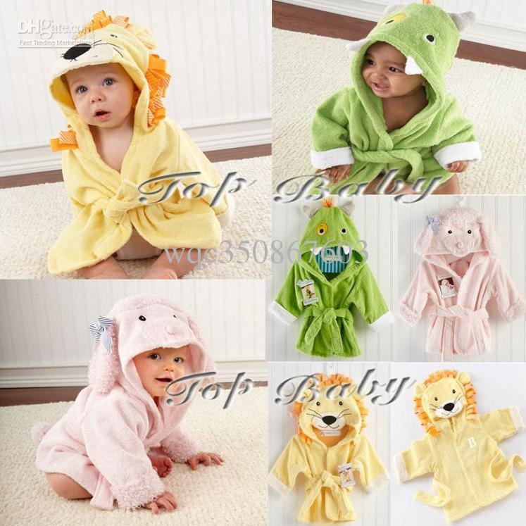 EMS Free Unisex Toddle Baby Cartoon Animal Hooded Bathrobe Children ... 7c6f2e362