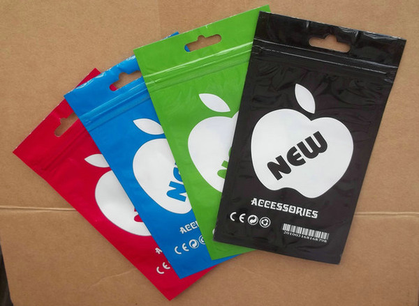 13x8cm Colorful Plastic Zipper Retail package Packing bag bags for Iphone Mobile Cell phone Accessories Earphones Battery chargers