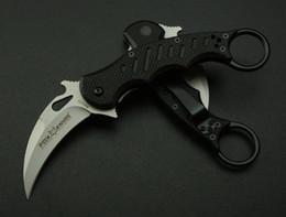 Wholesale New Fox Pocket Knife - Fox 5Cr13 Blade Karambit G10 Handle Folding blade knife Outdoor gear Pocket Knife rescue knife camping knives New in Original box