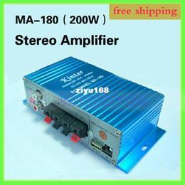 Wholesale Sound Digital Mini Amp - Wholesale - car Free Shipping USB Mini Stereo Sound Digital Power Amplifier Hi-Fi AMP MA-180 100% NEW