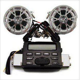 Wholesale Motorcycle Audio System Radio - Wholesale - car New 12V Waterproof FM Radio MP3 CD Motorcycle Audio System With Input Cable