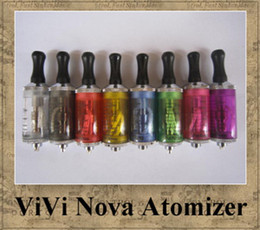 Wholesale nova wicks - ViVi Nova atomizer 3.5ml ego tank clearomizer long wick 8 colors for ego-t ego-w twist vapor kit no leak good quality 2013