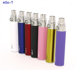 Wholesale E Cig T3s - In Stock Ego-t battery for E-Cigarette E-cig Ego-T CE4 CE5 battery 650 900 1100 Ecig kits mt3 t2 t3s EVOD atomizer ego vv 10 colors DHL