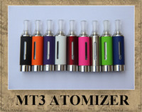 Wholesale Cartomizer Metal - MT3 EVOD ATOMIZER EGO CLEAROMIZER COLORFUL CARTOMIZER BCC ECVV ELECTRONIC CIGARETTE MATH WITH EGO-T EGO-W TWIST BATTER BRAND NEW