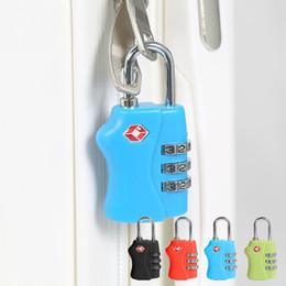 Resettable Locks Canada - TSA Resettable 3 Digit Combination Safe Travel Luggage Suitcase Code Lock #2553