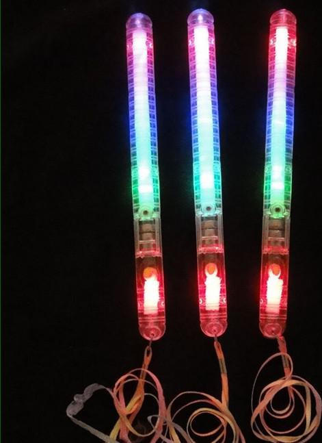 wholesale Christmas party supplies LED Flash light up Wand Glow Sticks kids toys toy wedding decoration blocks