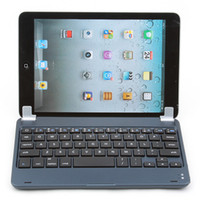 Barato Teclados Azuis Do Ipad-Ink Blue Alumínio Slim Wireless Bluetooth Keyboard Case Cover Stand Dock Para Apple iPad Mini 7.9
