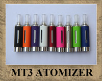 Wholesale Ego T Cartomizer - MT3 EVOD ATOMIZER EGO CLEAROMIZER COLORFUL CARTOMIZER BCC ECVV ELECTRONIC CIGARETTE MATH WITH EGO-T EGO-W TWIST BATTERY 2013 hot sale DHL