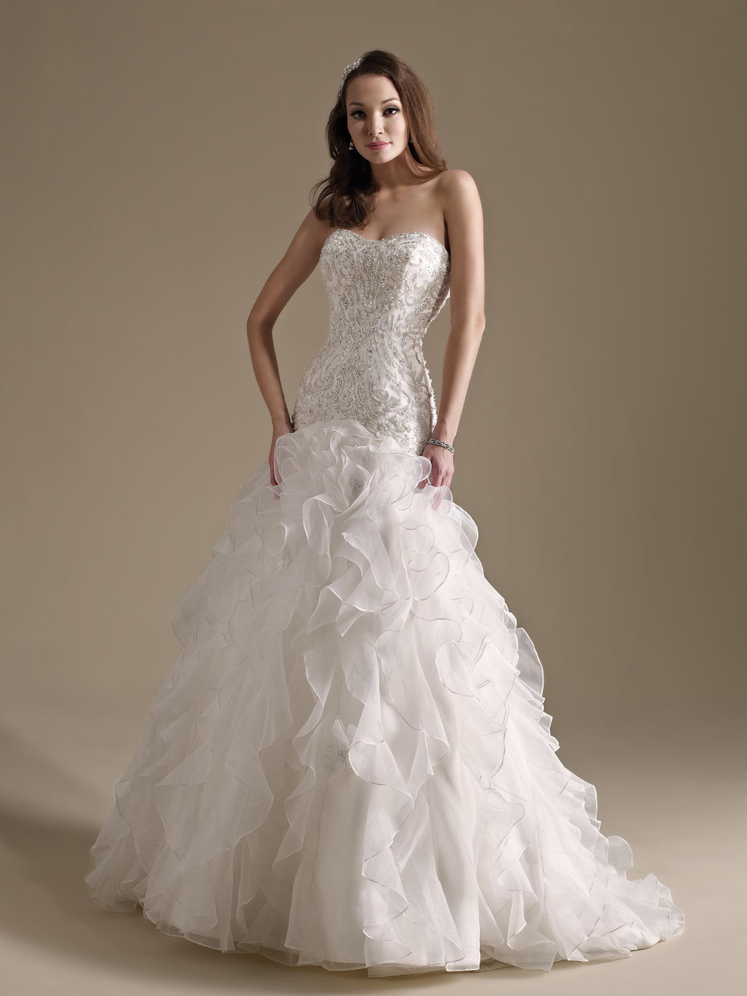 Kenneth winston 1486 mermaid wedding dresses sweetheart for Lace sparkle wedding dress
