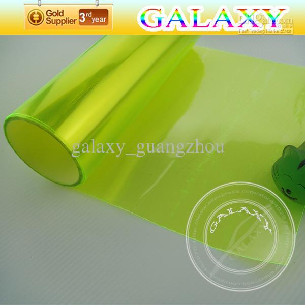Comercio al por mayor Faros delanteros de película Tinte Pegatinas Verde Amarillo Auto 30x1000cm Auto Exterior e Interior lámpara Película