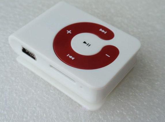 Partihandel - Gratis DHL Mini Clip MP3 Player C Form med Micro SD Card Slot TF-kort Drop Ship
