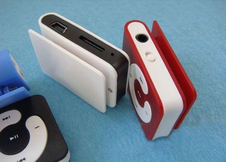 Wholesale - Free DHL Mini clip mp3 player C Shape with Micro SD card slot  TF card  drop ship