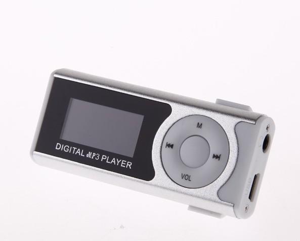 Mini LCD Bildschirm 5 Farben Mimi Clip MP3 Musik Player mit Lautsprecher Taschenlampe Kopfhörer USB Kabel Unterstützung Micro SD / TF Slot
