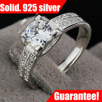 Wholesale Diamond Accent Rings - JewelOra fine jewelry wedding rings for women GF gift 1.00CT Delicate Diamond Accent 100% 925 Silver Lady Ring #RI100968