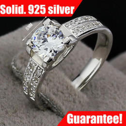 Wholesale Diamond Ladies Ring Sterling - JewelOra fine jewelry wedding rings for women GF gift 1.00CT Delicate Diamond Accent 100% 925 Silver Lady Ring #RI100968