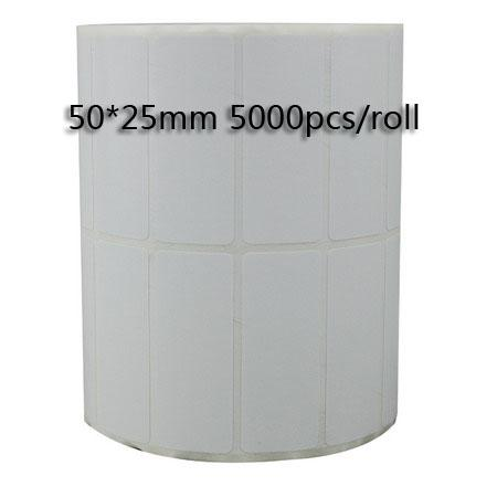 50*25mm /Roll Thermal transfer blank barcode Labels,art paper adhesive printed label sticker,
