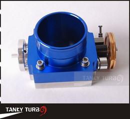 Wholesale Manifold Intake - TANSKY-NEW 80mm THROTTLE BODY (silver,blue) for RB25 2JZ EVO 1-6  petrol 4.8 CRUSIER 4.5L intake manifold ect-78mm*78mm TK-TB80A