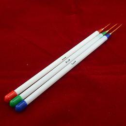 Wholesale nail brush for dots - Supernova Sale 3pcs set 1# 2# 3# Nail Art Design Striping Brush Set Liner Dotting Painting Pen For Tips Tool P205