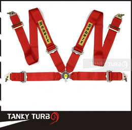 Wholesale Red Racing Seats - Tansky - 2013 New Sabelt Racing Satefy Seat Belt FIA 2018 Homologation  width:3 inches 4Point TK-SAB04 Color : Red, Blue, Black
