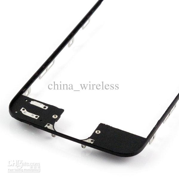 LCD Digitizer Frame Bracket Holder Housing Stand Middle Bezel Middle Frame With 3M Adhesive For iPhone 5 5G 5th Black White MOQ
