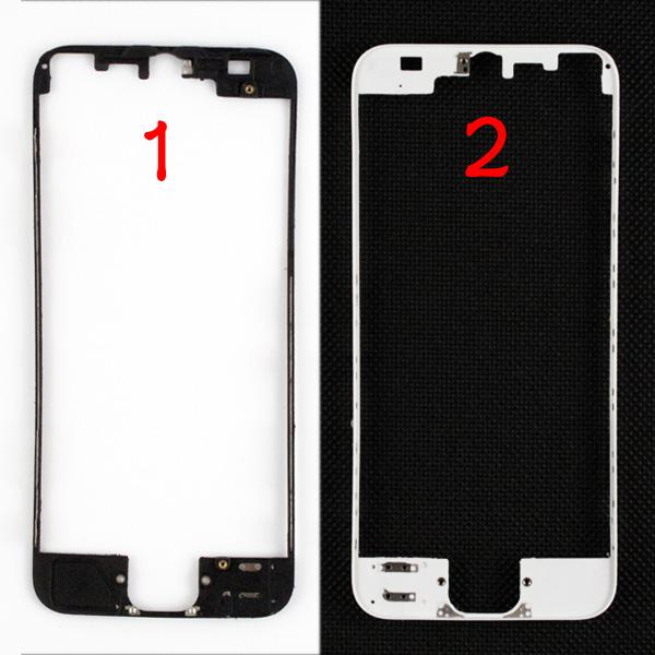 LCD Digitizer Frame Bracket Holder Housing Stand Middle Bezel Middle Frame With 3M Adhesive For iPhone 5 5G 5th Black White MOQ100 PCS