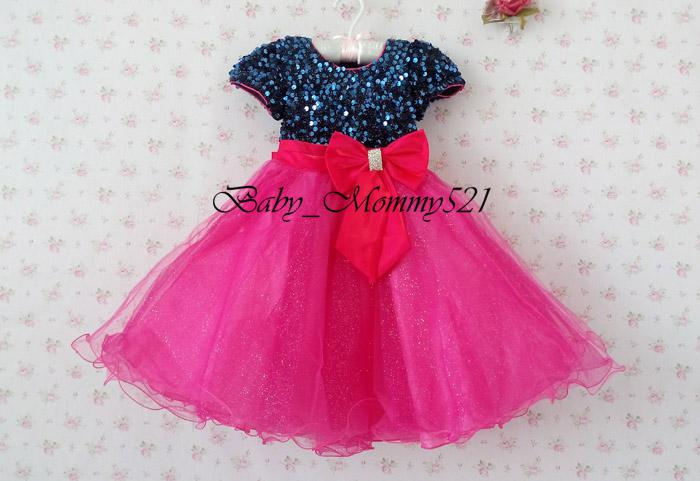2018 New Design Children Party Clthes Girls Party Dress Girl Sequins ...