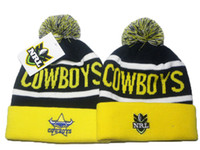 Wholesale Wool Winter Cuffed Knit Hat - North Queensland Cowboys beanie NRL beanies knit cuff woolen hats for sale top quality NRL beanies fashion winter knitting hats DD