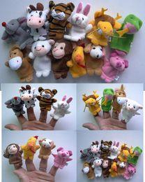 Wholesale Dragon Puppets - Christmas Animals Finger Puppets Chinese zodiac Set Birthday Education Gift Tiger Rabbit Dragon Snakes Monkeys Dog